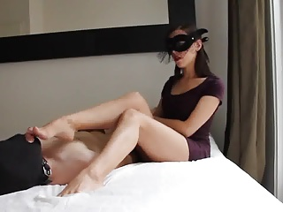 Mistress disreputable worship and handjob