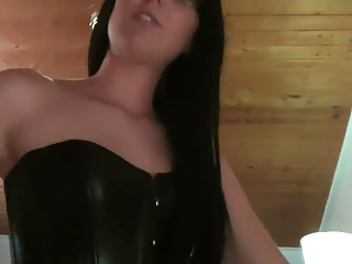 Leather fetish SEX with Close up shop Jenna!