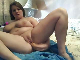 My Fat plumper GF loves masturbating their way soiled Pussy