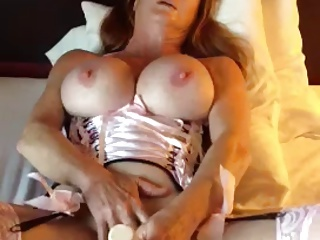 Of age Woman With Big Tits Pleasures Herself