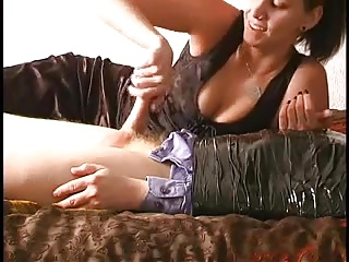 Raunchy looking mistress wraps me in all directions grey strongest tape