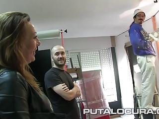 PUTA LOCURA Hot Milf rides bikes together with cocks