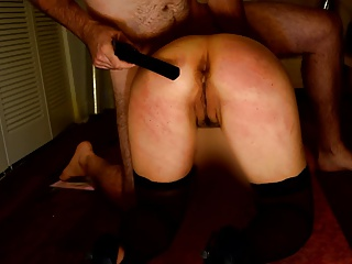 Tie the knot Gets 50 Belt Strokes on The brush Irritant & Pussy