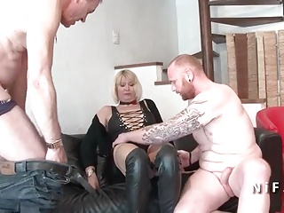 Unskilful Busty french adult hard anal plugged in threesome