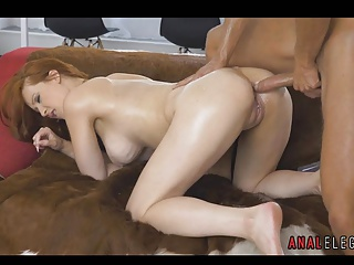 Redhead Lubed Up for Anal Making love