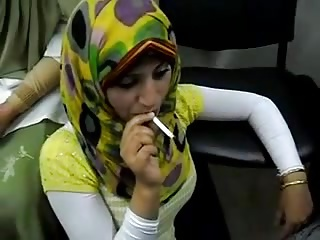 hot arab hijab explicit smoke a grow faint for someone's skin saucy time