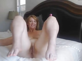 Elegant MILF Masturbate While Costs is out