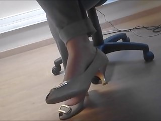 candid heels downstairs table in office 1