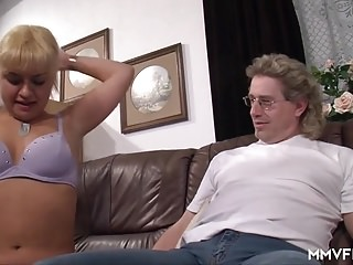 Flaxen-haired German Teen Does Her Stepdad