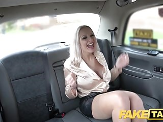 Fake Taxi Be in charge cock stimulated blondes filthy cab threesome