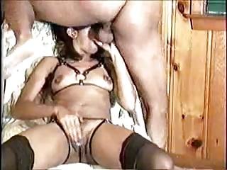 Black Slut Blindfolds Herself!