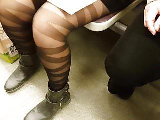 Black Shiny Pantyhose in Metroline