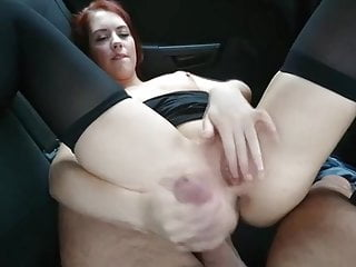 Redhead cunning time fucked in the car