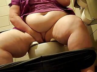 SSBBW Slut Pet Pisses encircling Public Bathroom
