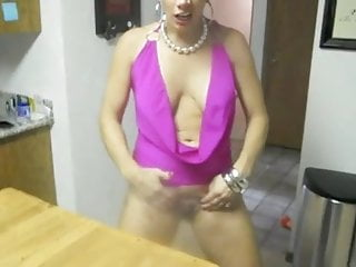 Blond wife exhibits yourself for husband