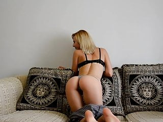 Absolutely staggering blonde stripping and teasing