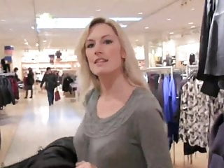two delicious milf using strapon in mention fitting room