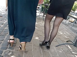 Sexy pantyhose then sexy hands and heels