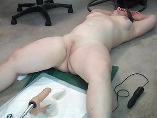 Chubby Wife Machine Fucked together with Babe in arms Dick Yellow-belly Spouse Helps