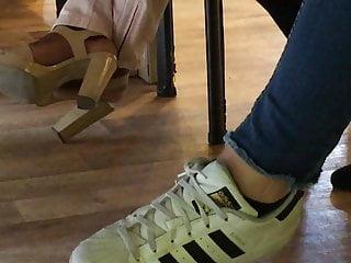 Colleague in high heels