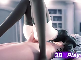 2B from New Game Gets a Dig up Inside Her a Plunder