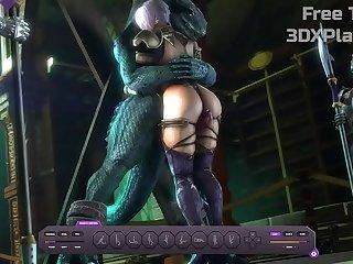 3D WHORE DOES ASSJOB