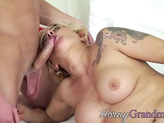 Mature whore sucking and riding