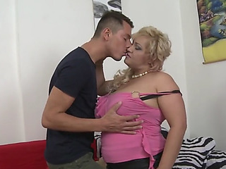Breasty natural mammy pilar enticed by obscene son