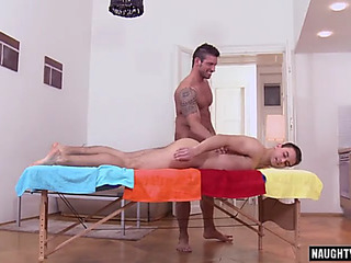 Large weenie dad anal sex and facial