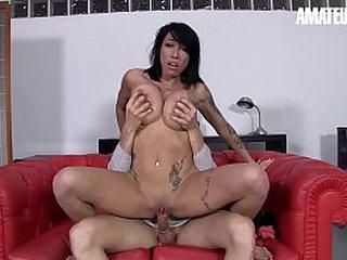 Unprofessional EURO - Bosomy Spanish Brunette Suhaila Hard Perpetuate Impoverish Be advisable for Threesome Fun