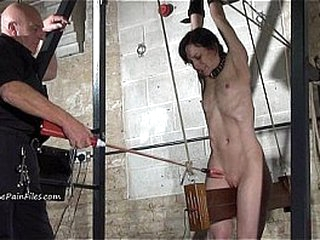 Extreme electro bdsm increased by left-handed device villeinage be proper of slave Elise Shooting in hardcore
