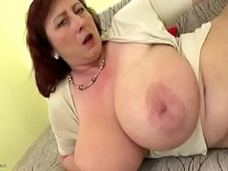 Plump female parent just about big saggy boobs