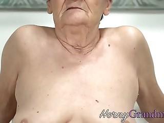 Slutty gilf gets facial cumshot
