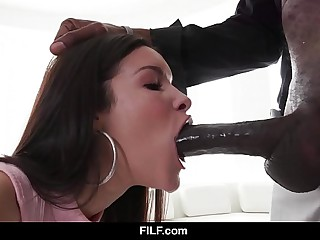FILF - Eden Sin is obsessed apart from her stepdad's successfully black dick