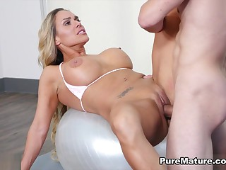 Tegan James in Family Workout - PureMature