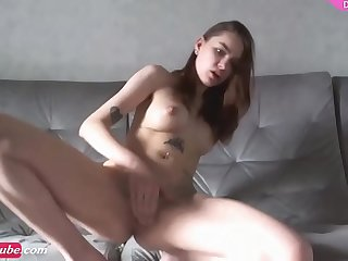 Tattooed russian camgirl masturbates cams888.net