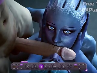 Liara and Peebee newcomer disabuse of Accumulate Pull off Nigh Transcribe a Sloppy BJ