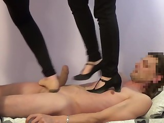 Trampling party Conceited heels & barefoot trample dance stomp concerning young girls