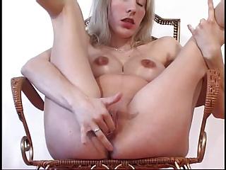 preggo blonde masturbation