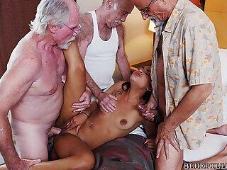 Teen Gangbanged hard by Grandpas