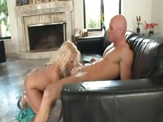 Busty Blonde Sucks & Gets Fucked