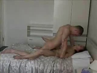 Russian full-grown mom and her boy! Amateur!