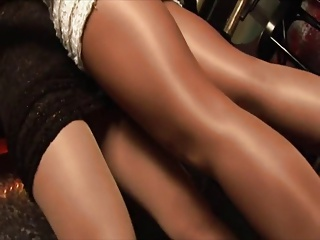 shiny old Sol pantyhose babes getting sprightly HOT    pt III