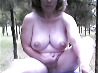 Matured Nude Female Outdoors On Table Extended Version