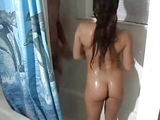 Shower sex with hot young girlfriend