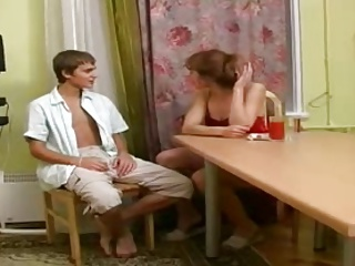 mom with smashing nipples shacking up a young boy