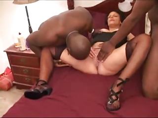slutty milf increased by pregnant on every side 2 BBC